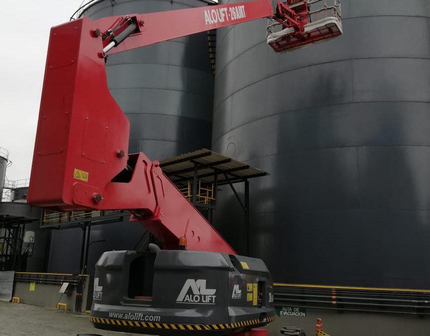 ALO Colombia entrega Brazo Articulado ALO Lift 26 AJ RT para proyecto industrial