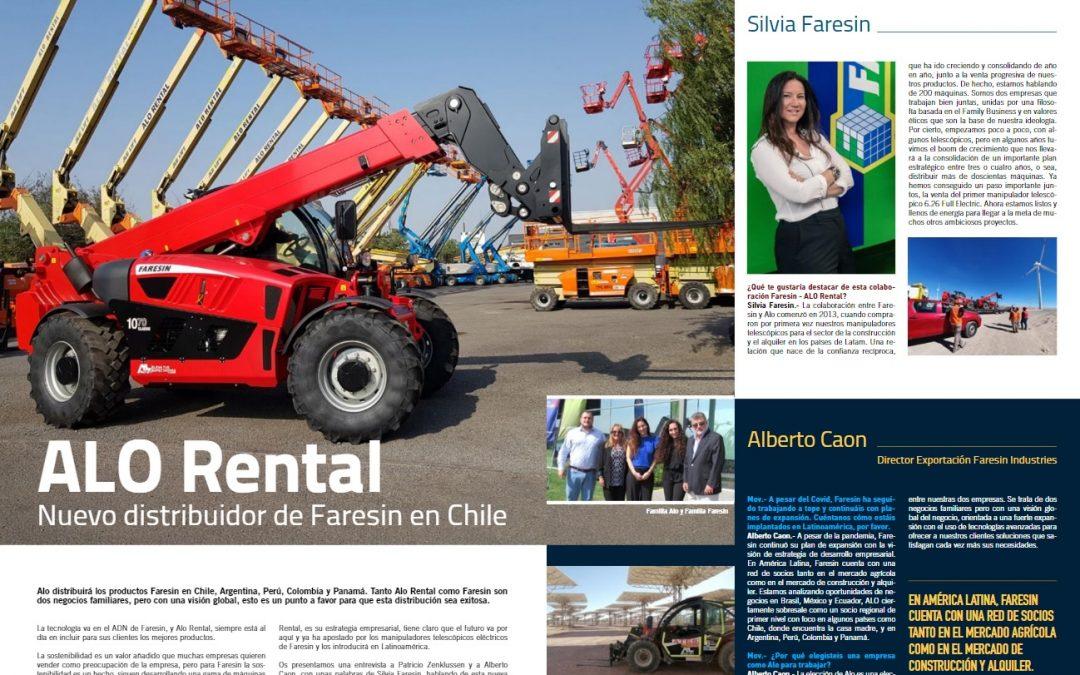 ALO Rental Colombia & Faresin Industries la consolidación de un plan estratégico como socios regionales