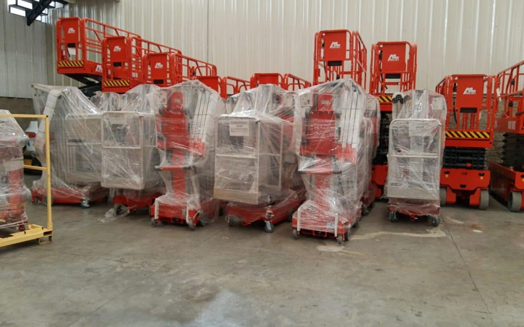 ALO Colombia recibe embarque con Elevadores Personales Eléctricos ALO Lift 32 AMP y 40 AMP