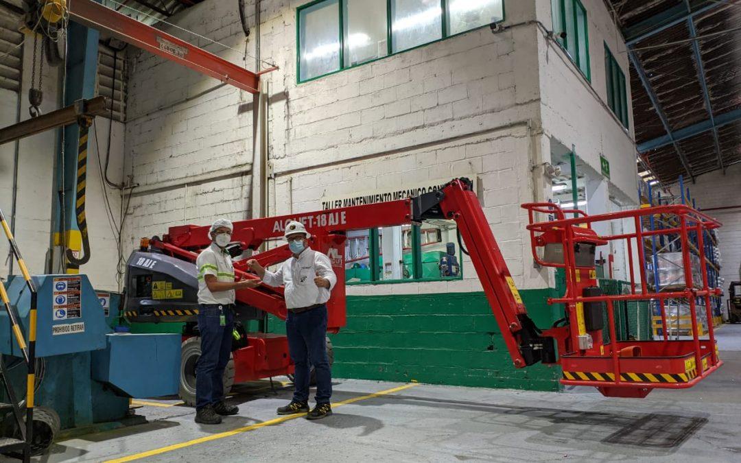 ¡Éxito de Ventas! ALO Colombia entrega Brazo Articulado Eléctrico ALO Lift 18 AJ E a gran industria papelera