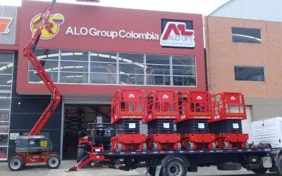 ¡En lo Alto Colombia! Entrega Elevadores Tijeras Eléctricos ALO Lift 140 WS a Plataformas y  Herramientas SAS