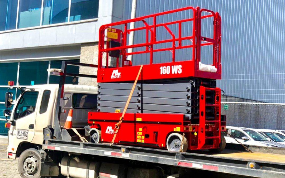 Distribuidor CGB SAS entrega Tijera Eléctrica ALO Lift 160 WS a cadena de supermercados