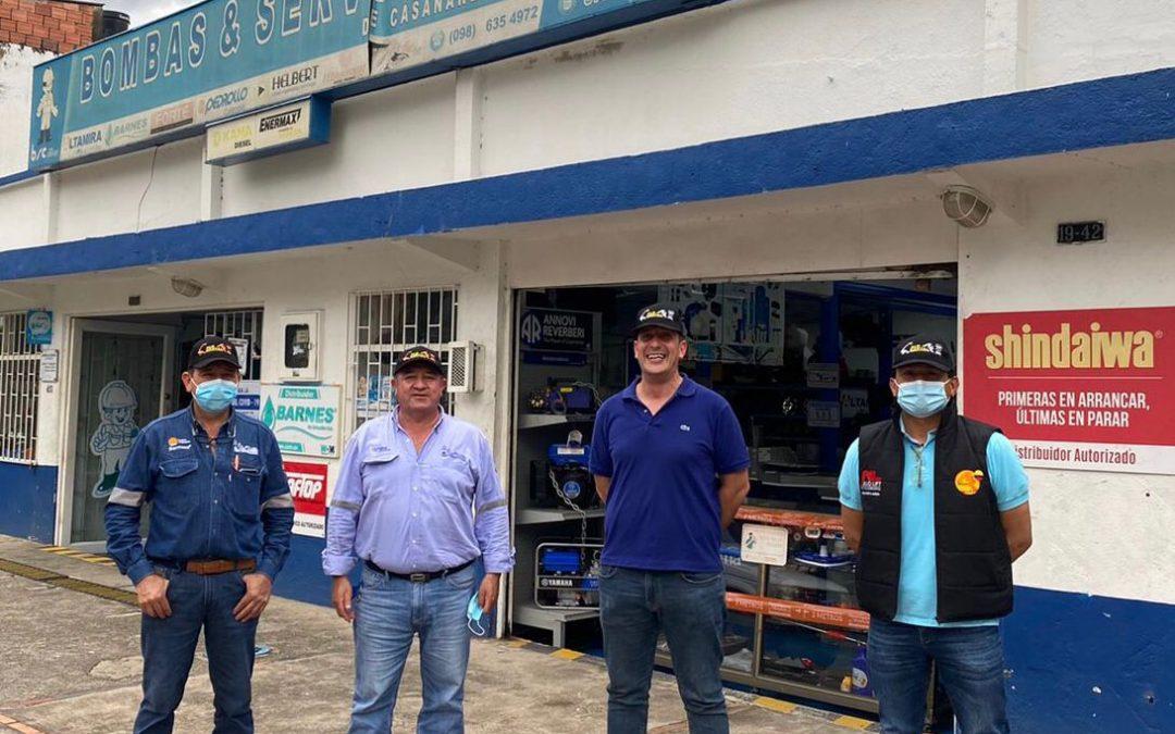 ALO Colombia visita a distribuidores exclusivos Bombas y Servicios para Casanare, Meta, Arauca y Guaviare