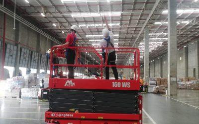 CGB SAS entrega Plataformas Tijeras ALO Lift 160 WS a importante cadena de retail en Colombia