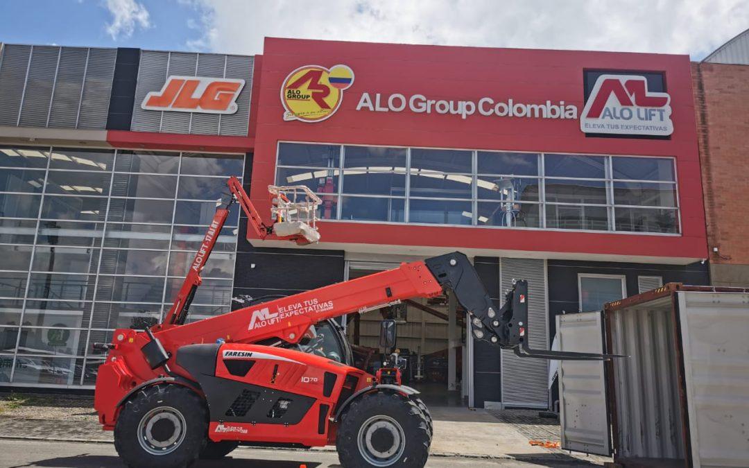 ALO Colombia recibe embarque con Brazos Articulados ALO Lift 16 AJ E y Manipuladores Telescópicos 10.70/17.40